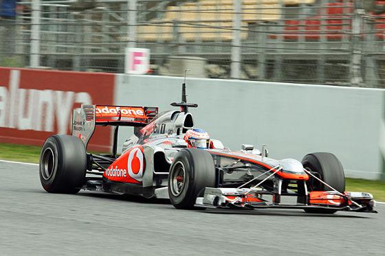 Jenson Button im McLaren MP4-26