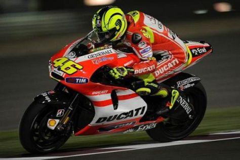 Ducati-Neuzugang Valentino Rossi zählt in Katar nicht zum Favoritenkreis