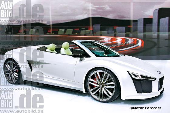 Illustration Audi R8 Spyder