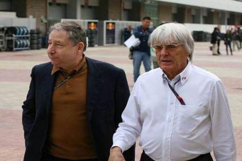 Zwei Männer, zwei Meinungen: FIA-Chef Todt und Formel-1-Boss Ecclestone