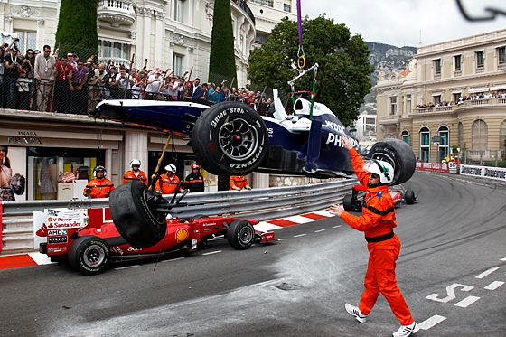 Crash in Monaco 2010