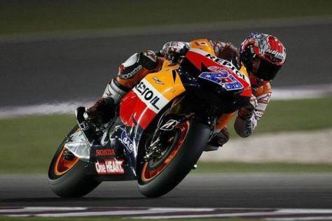 Casey Stoner ist bisher in Doha mit Abstand der schnellste Fahrer