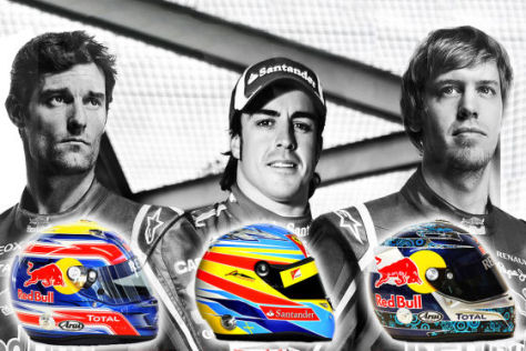 Formel 1 2011: Helme