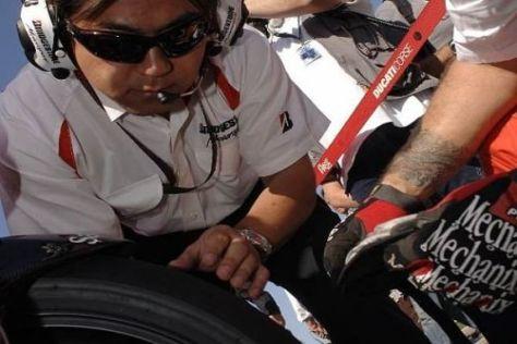 Bei Bridgestone war man mit der Performance der Reifen sehr zufrieden