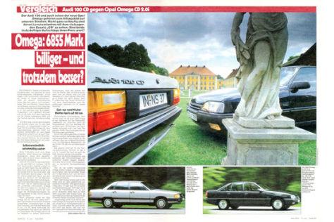 Audi 100 CD vs. Opel Omega CD 2.0i