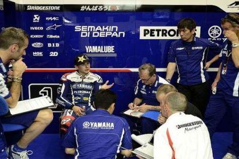 Jorge Lorenzo verbesserte gemeinsam mit seiner Crew das Setup der Yamaha