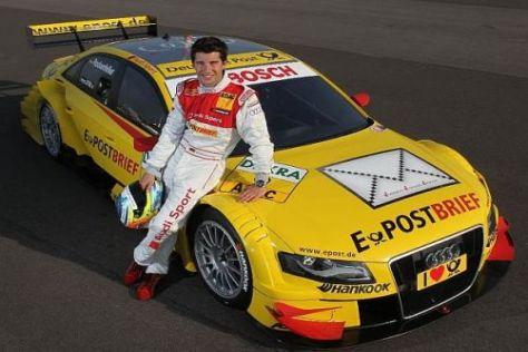 Audi-Aufsteiger Mike Rockenfeller fährt ab sofort im Gelb der Deutschen Post