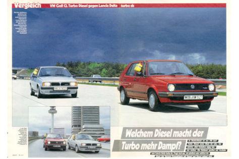 VW Golf Diesel Lancia Delta turbo ds