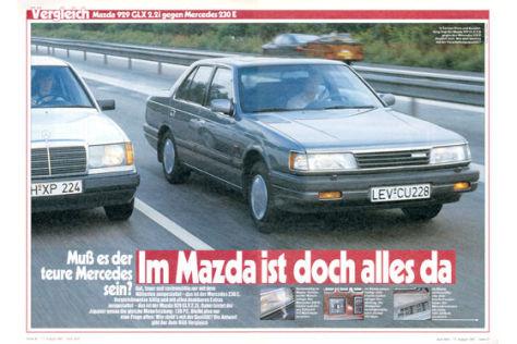 Mazda 929 gegen Mercedes 230 E