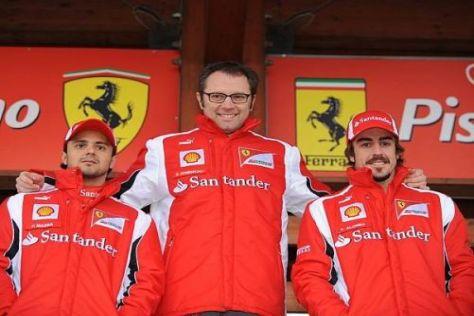 Teamchef Stefano Domenicali ist mit seinen beiden Fahrern sehr zufrieden