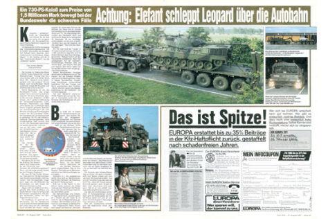 Reportage: Bundeswehr-Transporter