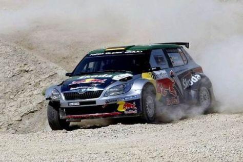 Hermann Gassner jun. feierte nach einer anstrengenden Rallye auf dem Podium