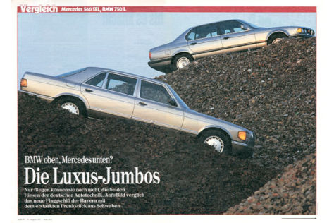 Mercedes 560 SEL, BMW 750 iL