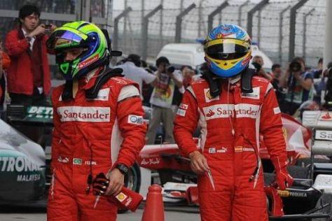 Hängende Schultern: Felipe Massa und Fernando Alonso fahren nicht um Siege