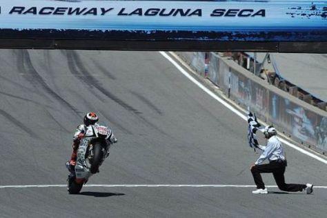 Jorge Lorenzo hat im vergangenen Jahr in Laguna Seca gewonnen