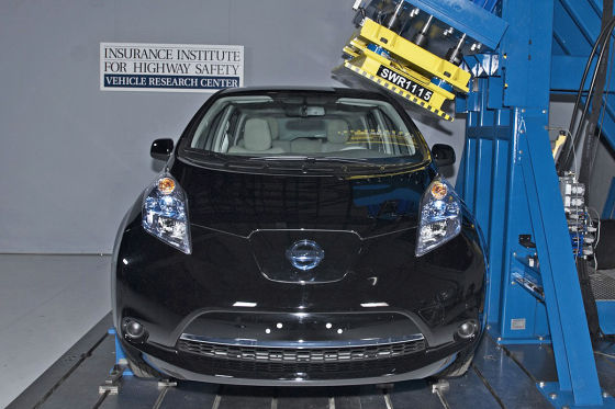 Nissan Leaf im US-Crashtest