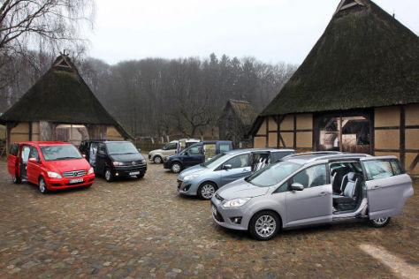 Vergleich Sechs Diesel Vans Mit Schiebet 252 Ren In Drei