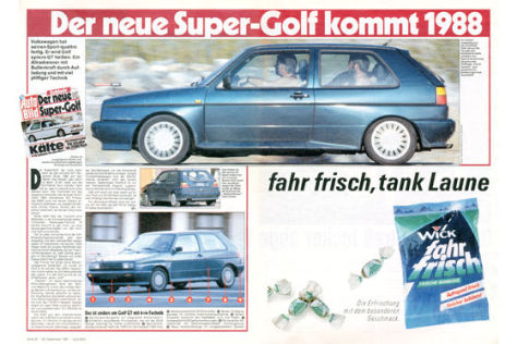 VW Golf syncro GT