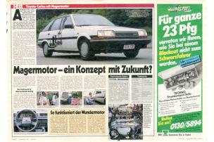 Toyota Carina mit Magermotor: Test