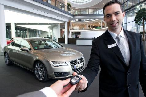 Abholung Neuwagen bei Audi