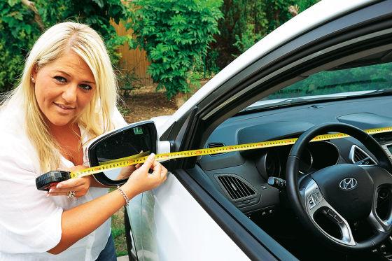 Nachmessen der Fahrzeugbreite