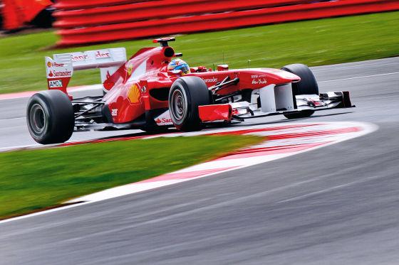 Fernando Alonso in Silvestone