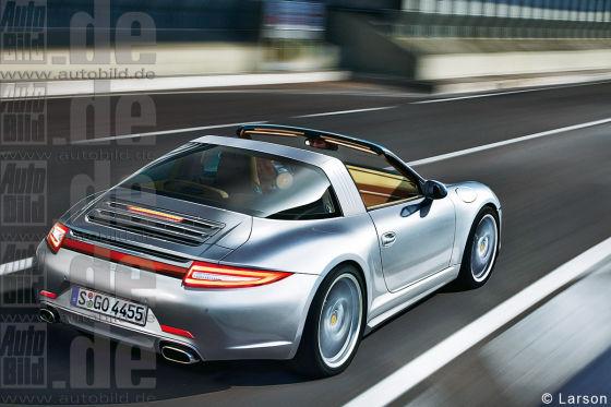 Porsche Targa Illustration