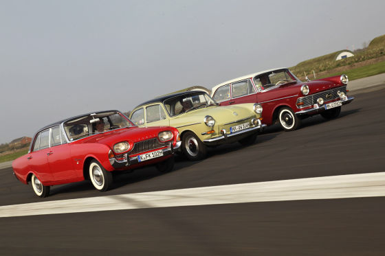 Ford 17M P3 VW 1500 S Opel Rekord P2
