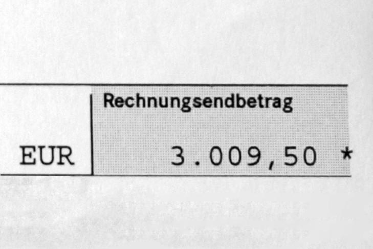 Mercedes-Rechnungsbetrag