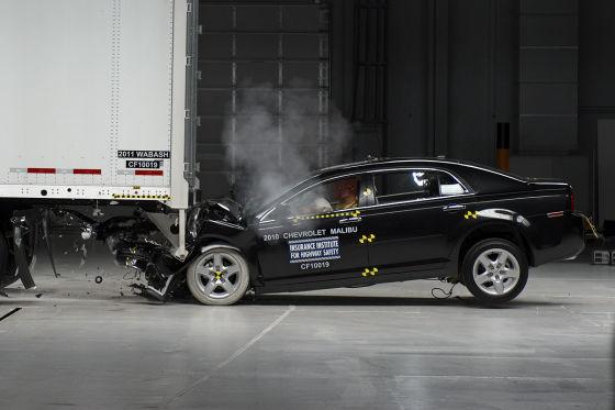Crashtest Unterfahrschutz