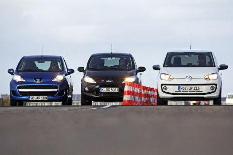 Vw Up Gegen Peugeot  Und Ford Ka Autobild De