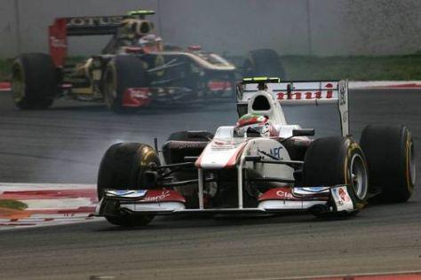In Indien fuhr Sergio Perez mit viel Einsatz in die WM-Punkteränge