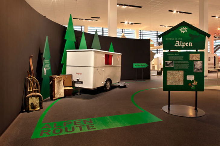 Alpenroute im Hymer-Museum