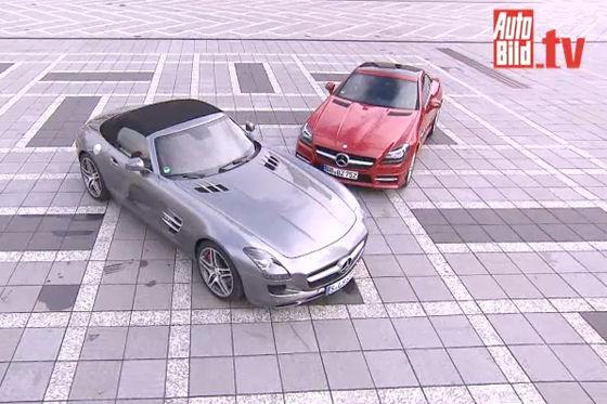 Video: Mercedes SLS vs. SLK