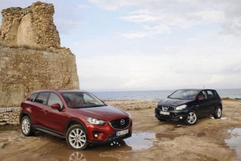 Suv Vergleich Der Neue Mazda Cx 5 Gegen Den Nissan