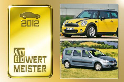 wertmeister 2012: autos mit dem geringsten wertverlust - autobild.de