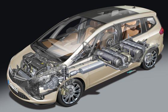 Opel Zafira Tourer CNG (2012) Erdgas