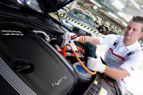 Audi-Fertigung im Werk Neckarsulm