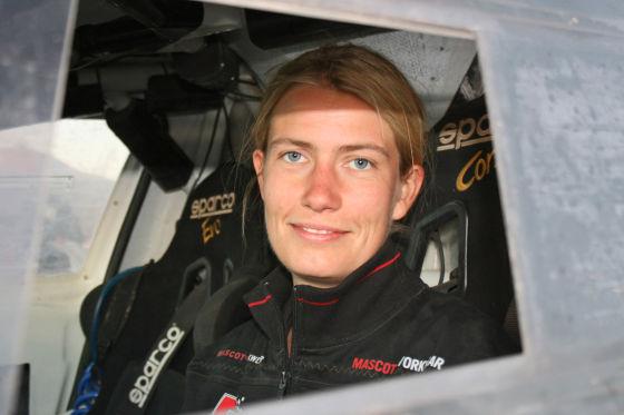 Stefanie Manns bei der Rallye Dakar 2012