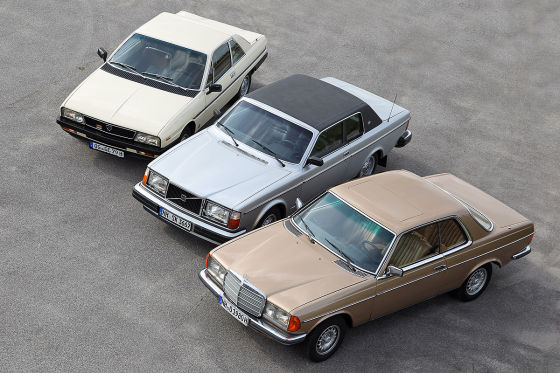 Mercedes-Benz 230 CE, Volvo 262 C Bertone, Lancia Gamma Coupé 2500