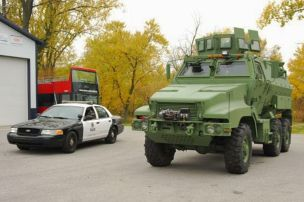 US-Polizei setzt auf Radpanzer