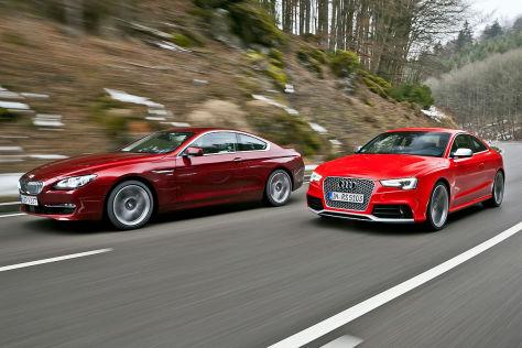 Vergleich Zwischen Bmw 650i Xdrive Und Audi Rs5 Autobild De