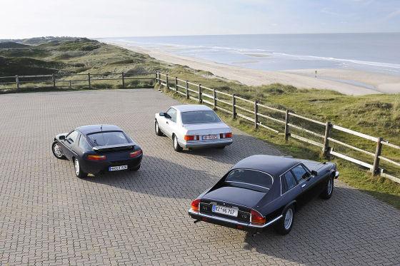 Jaguar XJ-S Porsche 928 S4 Mercedes 560 SEC